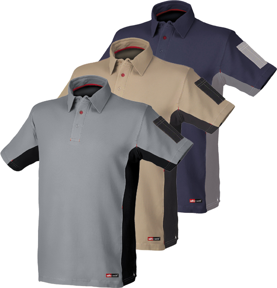 POLO STRETCH GRIS/NEGRO 8170 T-XL